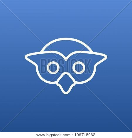 Isolated Night Fowl Outline Symbol On Clean Background