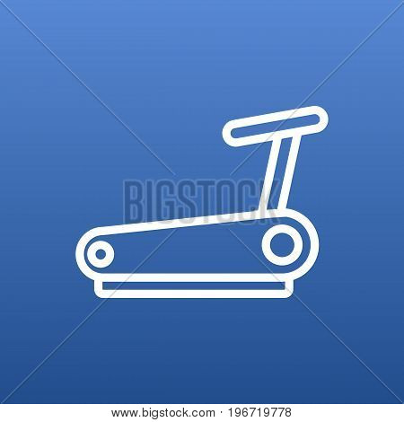 Vector Running Track Element In Trendy Style.  Isolated Treadmill Outline Symbol On Clean Background.