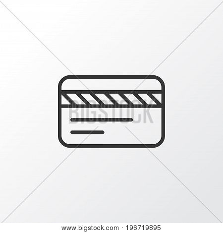 Premium Quality Isolated Bank Card Element In Trendy Style.  Debit Card Icon Symbol.