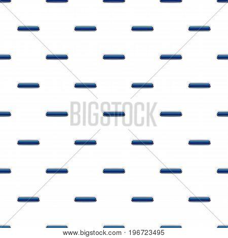 Blue rectangular button pattern seamless repeat in cartoon style vector illustration