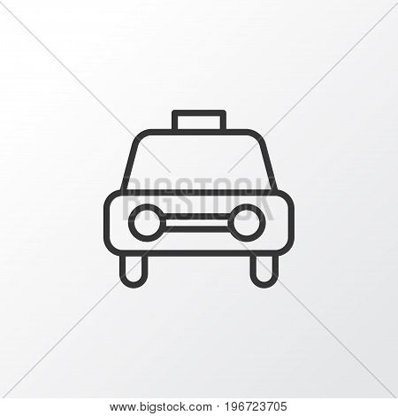 Premium Quality Isolated Taxi Element In Trendy Style.  Car Vehicle Icon Symbol.