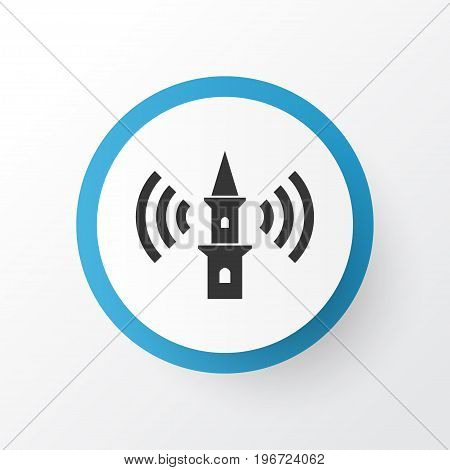 Premium Quality Isolated Tower Element In Trendy Style.  Adhaan Icon Symbol.