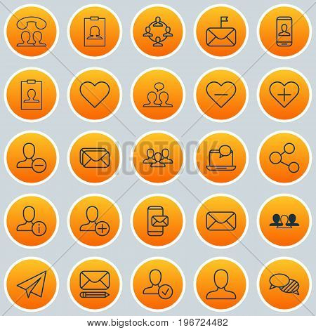Social Icons Set. Collection Of Identity Card, Team Organisation, Speaking And Other Elements