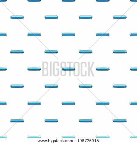 Sky blue rectangular button pattern seamless repeat in cartoon style vector illustration