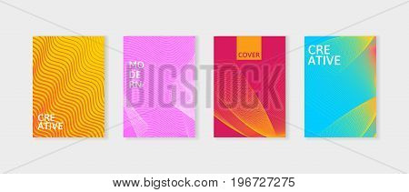 Minimal covers design set. Simple shapes with trendy gradients. Covers with geometric lines. Applicable for Banners, Placards, Posters and Flyers. Can be used for decoration presentation, brochure, catalog, book, magazine etc.