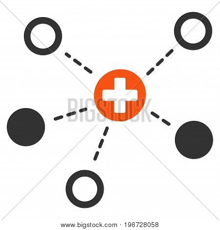 Medical Links vector pictogram. Style is flat graphic symbol.