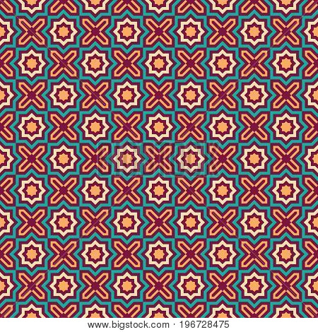 Pattern ready for textile printing or tile floor