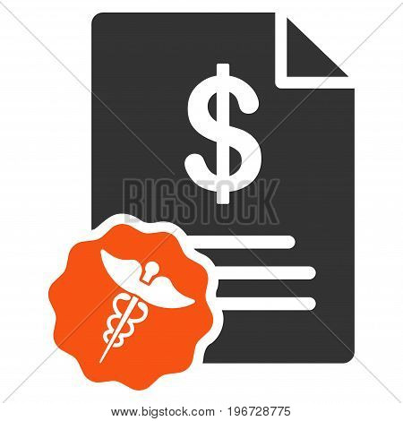 Medical Prices vector icon. Style is flat graphic symbol.