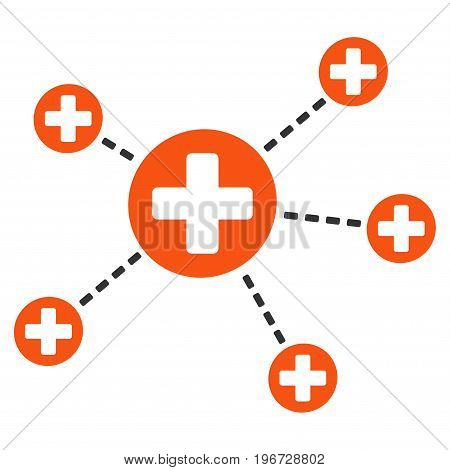Medical Relations vector icon. Style is flat graphic symbol.