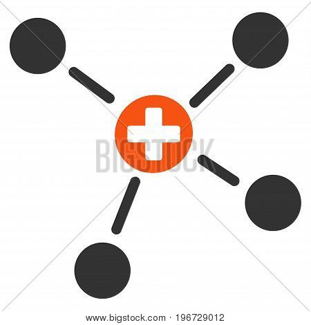 Medicine Links vector icon. Style is flat graphic symbol.