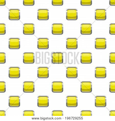 Citron square button pattern seamless repeat in cartoon style vector illustration