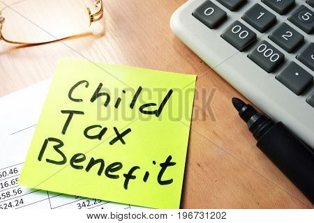 A Stick with words child tax benefit.