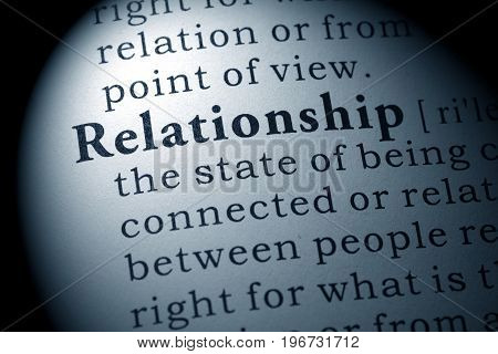 Fake Dictionary Dictionary definition of the word relationship.