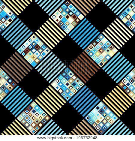 Seamless background pattern. Geometric diagonal plaid pattern