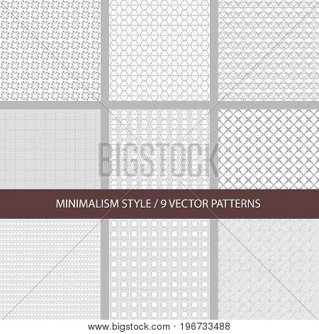 Set of linear vector texture minimalism style