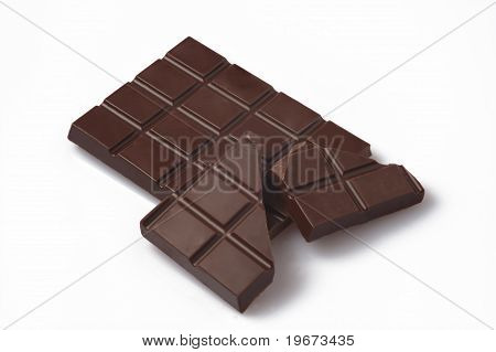 Chocolate White Background