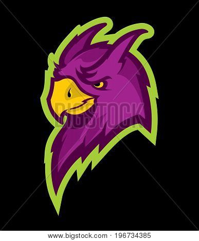 Parrot head sport mascot. Great for sports logotypes & team mascots.