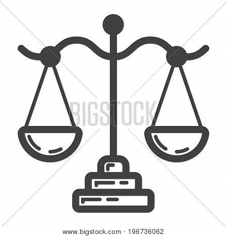 Libra line icon, business and finance, scale sign vector graphics, a linear pattern on a white background, eps 10.