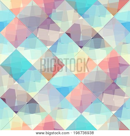 Seamless background. Abstract geometric pattern in lowpoly style.