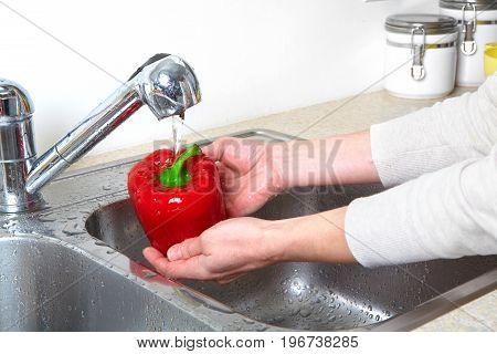 Sweet Pepper In The Sink