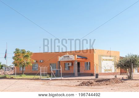 KALKRAND NAMIBIA - JUNE 14 2017: Office of the village council in Kalkrand a village on the B1-road between Mariental and Rehoboth