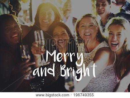 Merry Bright Season Greeting Celebration