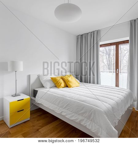 Double Bed In Home Bedroom