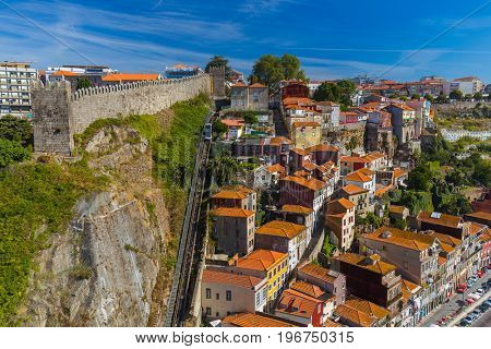 Porto old town in Portugal - architecture background