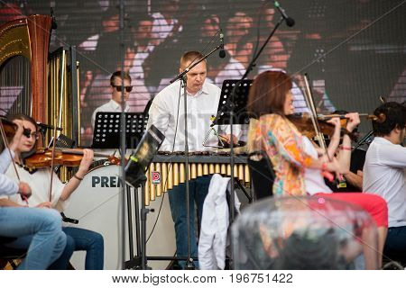 Hungarian Opera Orchestra From Cluj Performing A Live Concert