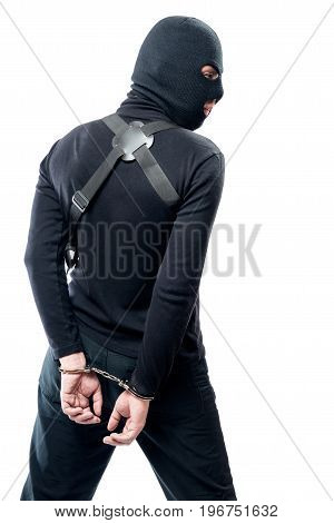 Detention Of A Dangerous Terrorist In Black Clothes And A Mask