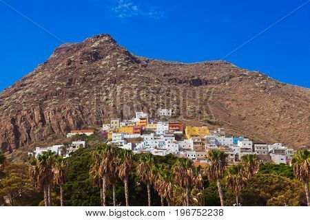 Village at beach Teresitas in Tenerife - Canary Islands Spain