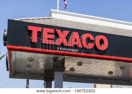 Las Vegas - Circa July 2017: Texaco Retail Gas Station. Texaco is a division of Chevron Oil