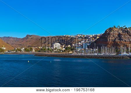 Port and town San Sebastian - La Gomera Island - Canary Spain