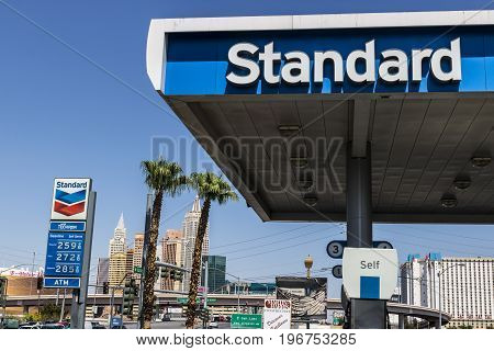 Las Vegas - Circa July 2017: Standard Oil Gasoline Station. The Standard name is a trademark of the Chevron Corporation