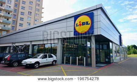 Lidl Supermarket Exterior
