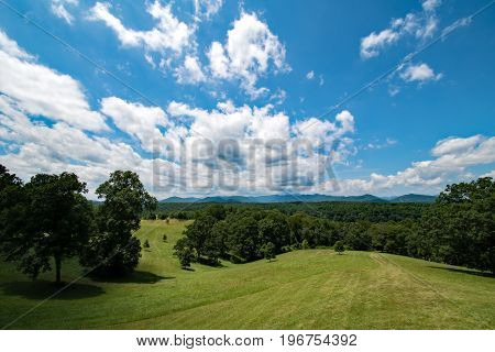 Wide open expansive spaces in the country