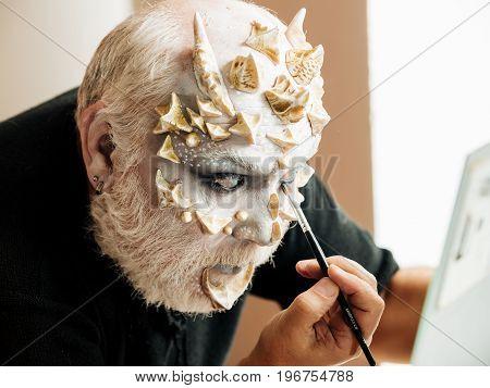 Man With Makeup Brush
