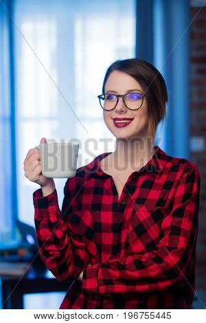Young Businesswoman At Home Interior