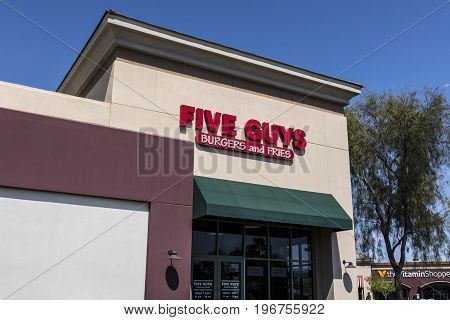 Las Vegas - Circa July 2017: Five Guys Restaurant. Five Guys is a Fast Casual Restaurant Chain in the US and Canada