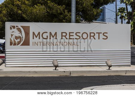 Las Vegas - Circa July 2017: MGM Resorts International office. MGM Resorts International is a global hospitality and entertainment company