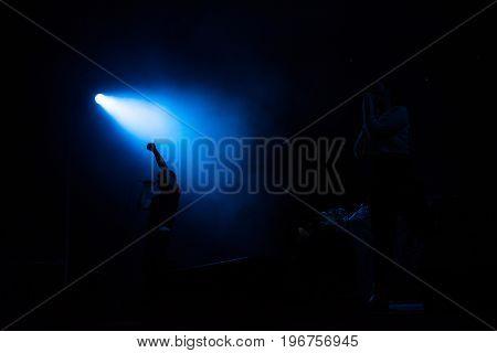 Atari Teenage Riot Band Performing A Rock Concert