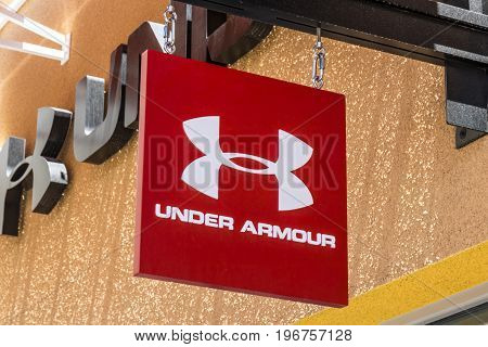 Las Vegas - Circa July 2017: Under Armour outlet shop. Under Armour manufactures a popular line of sporting equipment apparel