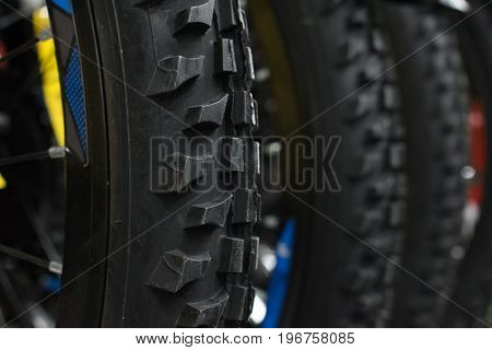 Bicycle tires with a deep off-road protector