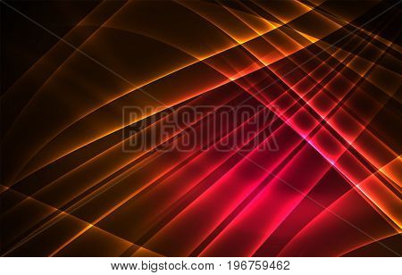 polar lights concept, glowing shapes in the dark, abstract background