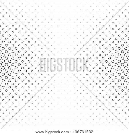 Monochrome abstract square pattern background - black and white geometrical vector graphic design from angular squares
