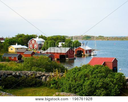 A peaceful Nordic village in the archipelago