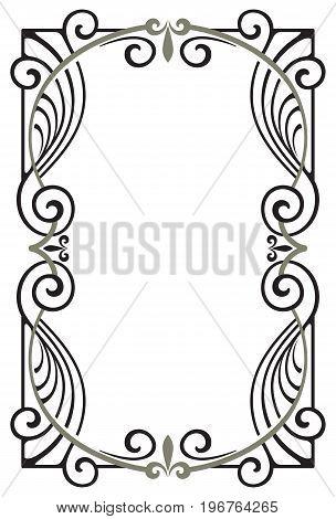 Decorative classic  vintage frame  in art nouveau