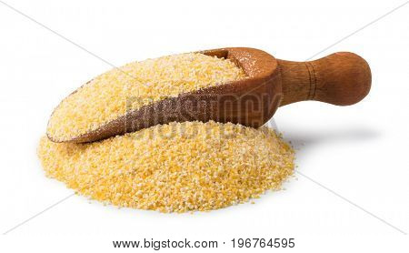 corn flour isolated on a white background