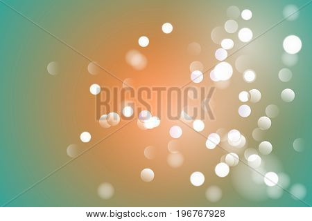Vector illustration abstract color background with magic blur bokeh light effect. Christmas and new year template.