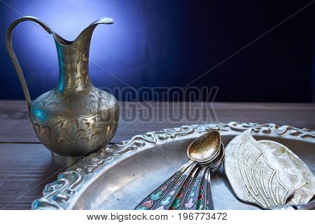 Closeup Of Kitchen Silverware Utensil